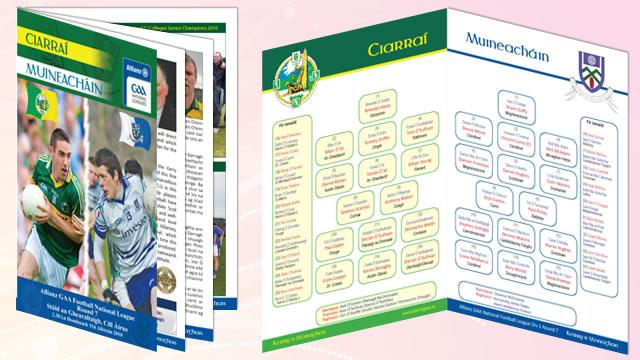 Match Programmes Design