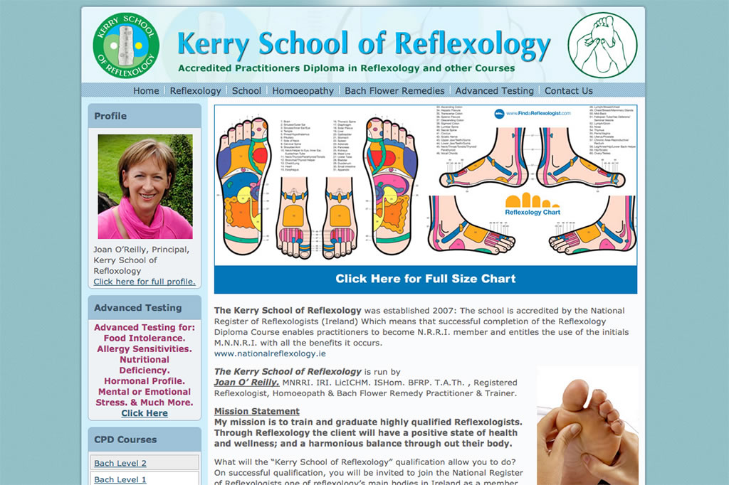 Kerry Reflexology Website