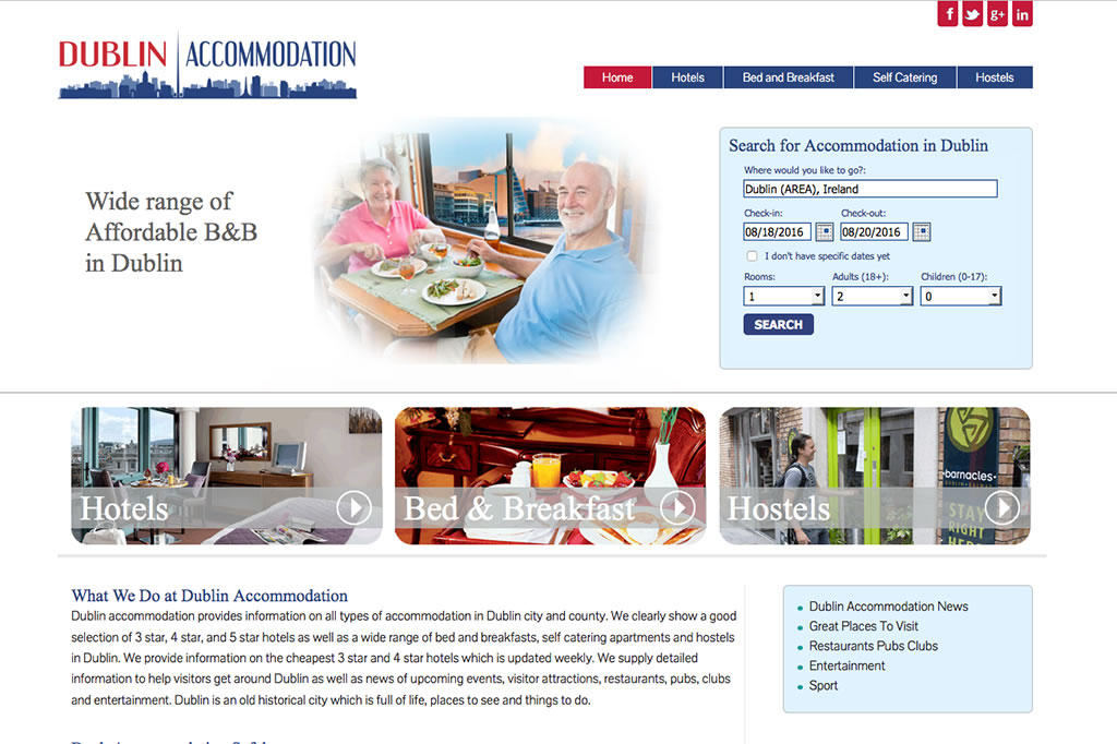 Accommodation Portal Website Design Dublin
