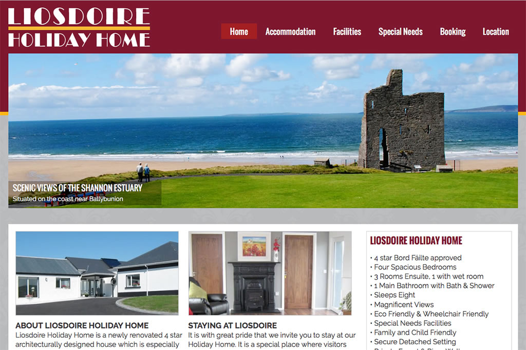 Accommodation Website Design Liosdoire Holiday Home