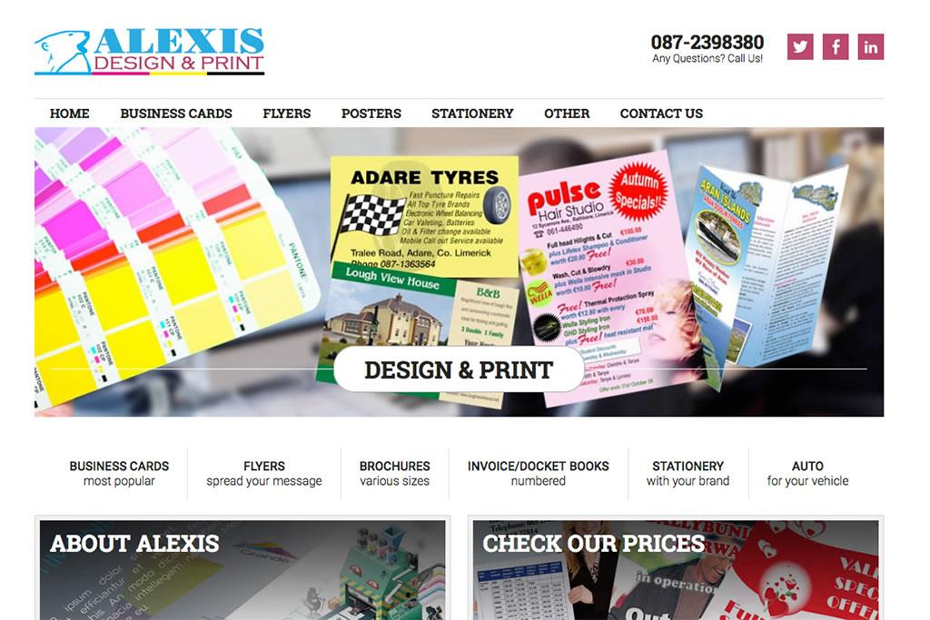 alexis design & print website