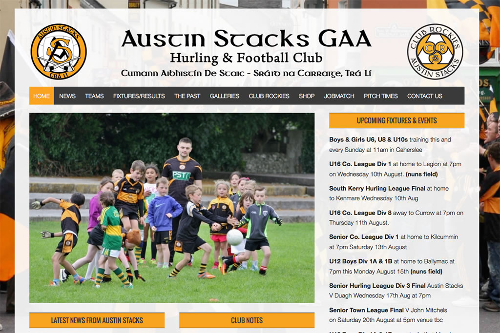 austin stacks gaa website