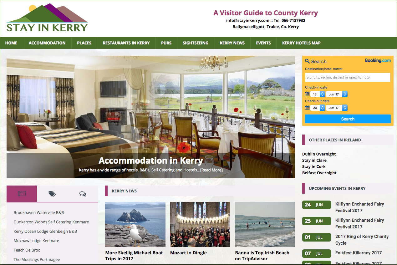 Stay in Kerry Website