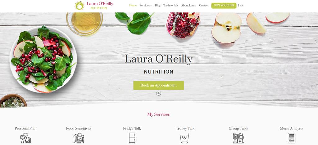 Laura O'Reilly E-commerce Website Design